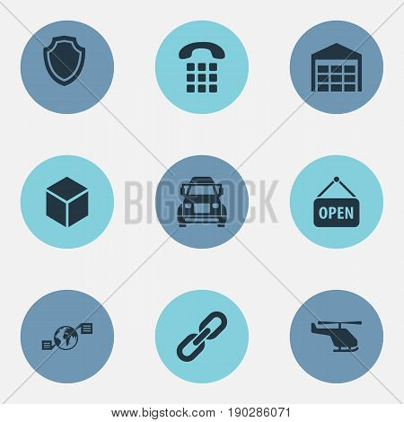 Vector Illustration Set Of Simple Systematization Icons. Elements Air Delivery, Conversation, Relation And Other Synonyms Shipping, Transportation And World.