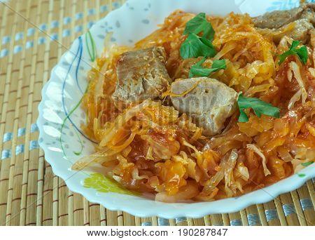 Sour Turnip Hot Pot Or Pork