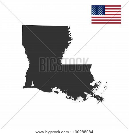 map of the U.S. state of Louisiana on a white background