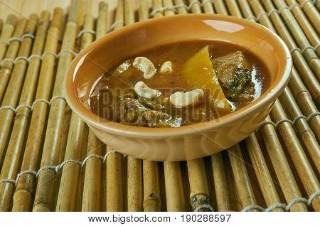 Murgh Shahi Korma. Indian  vegetable cuisine. close up