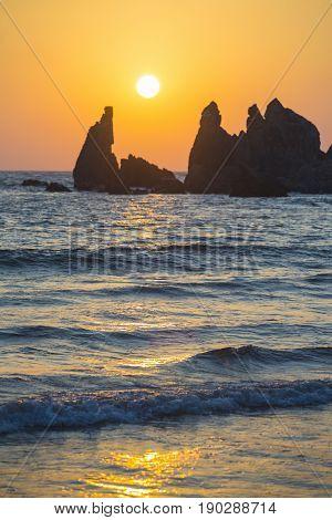 Sunset At Arambol In March. Goa. India