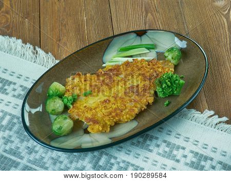 Orange Roughy Broil. close up slimehead cuisine