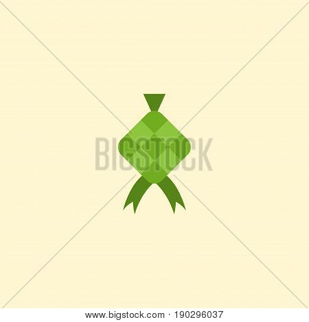 Flat Icon Ketupat Element. Vector Illustration Of Flat Icon Malay Isolated On Clean Background. Can Be Used As Ketupat, Hari And Raya Symbols.