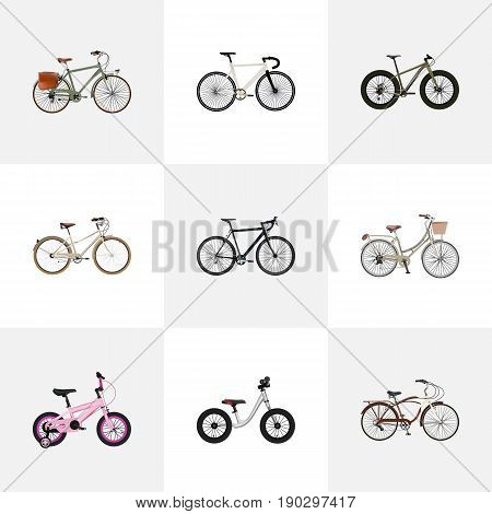 Realistic Brand , Road Velocity, Working Vector Elements. Set Of Bike Realistic Symbols Also Includes Cruise, Old, Track Objects.
