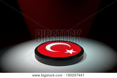 The Push Button With Tyrkey Flag