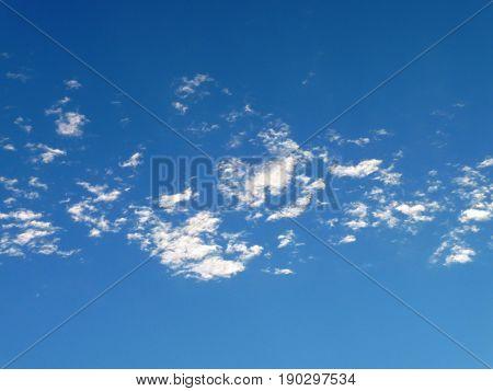 Cirrus Clouds against a brilliant blue sky