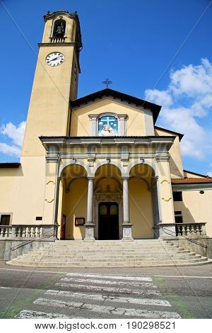 Zebra Crossing Church   Italy The Old Wall    Tower