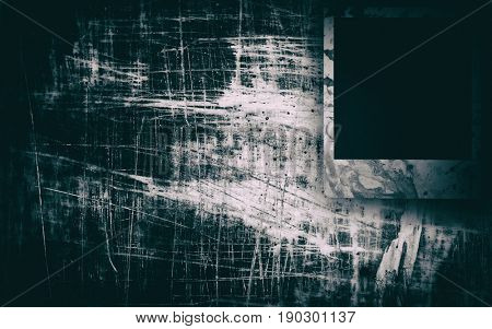 Blank photo frames on grunge background