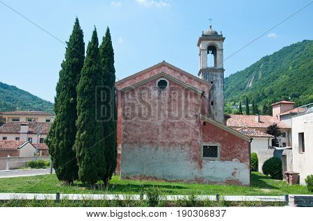 Ancietn church in the city of Vittorio Veneto