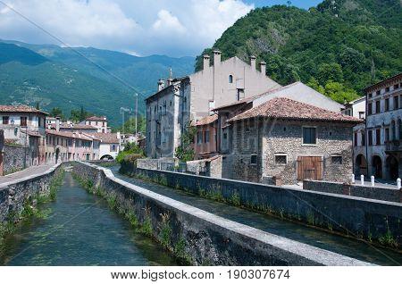 Historic central streets in the city of Vittorio Veneto