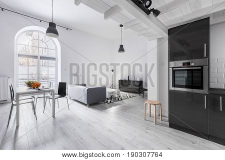 Apartment In Industrial Style