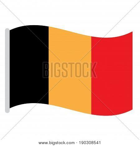 Isolated Belgian flag on a white background, Vector illustration