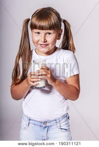 Girl Loves Milk