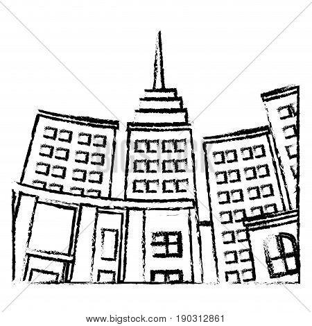 building skyscraper city bottom view image vector illustration