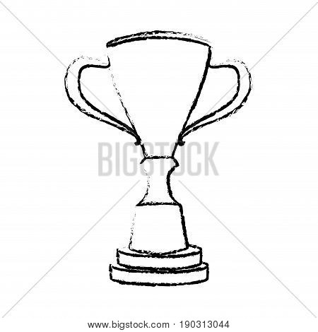 trophy winner competition award icon vector illustration