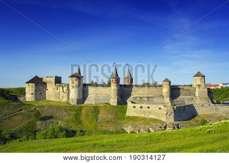 Picturesque view on the Castle in Kamyanets-Podilsky Ukraine