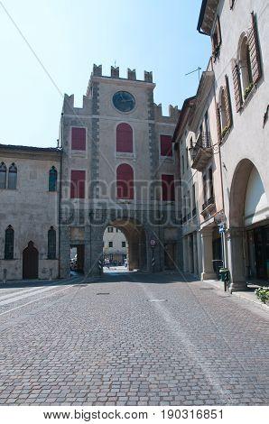 27 may 2017-vittorio veneto-italy-Ancient palaces in the city of Vittorio Veneto