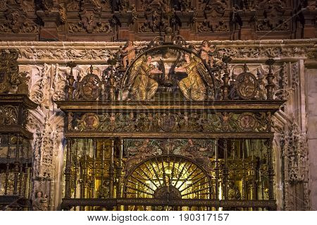 Interiors Of Seville Cathedral, Seville, Andalusia, Spain
