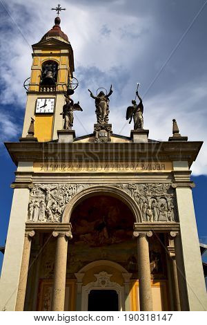 In Cairate Varese Italy   Church Watch Bell Clock Tower