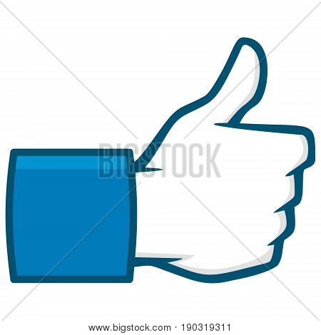 A vector illustration of a Like Us Social Media Icon.