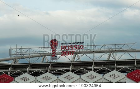 Russia, Moscow June 8, 2017  The logo of the FIFA Confederations Cup 2017