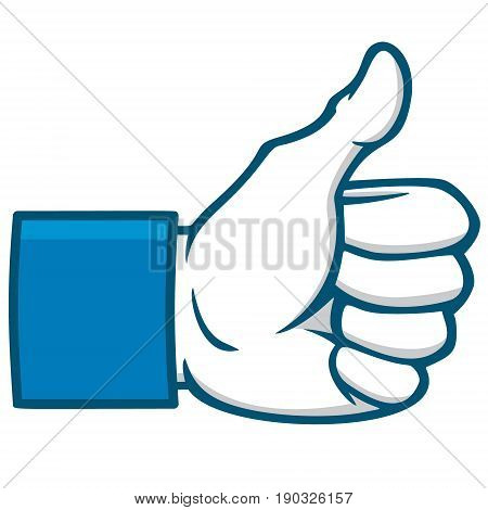 A vector illustration of a Like Us Social Icon.