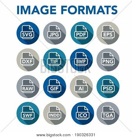 Image Format Icons - Png, Jpg, Eps, Pdf, Svg