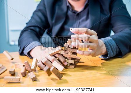 businessman fail and unsuccessful concept game building