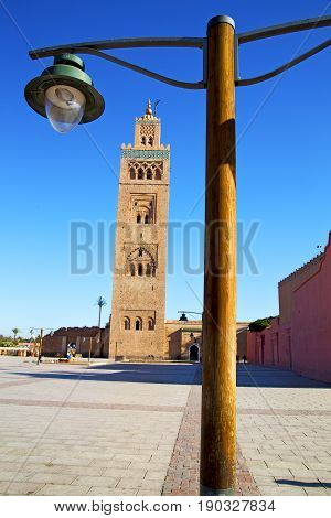 History  Street Lamp  Minaret Religion And The Blue     Sky