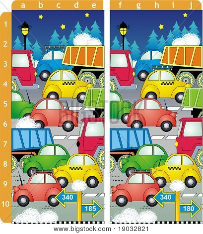 Find ten differences visual puzzle