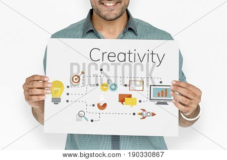 Ideas invention and creative icon graphic design