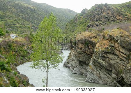 Kawarau Gorge between Cromwell and Queenstown on the South Island of New Zealand