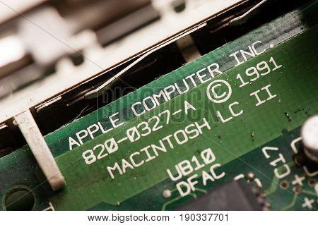 Vintage Computer Motherboard