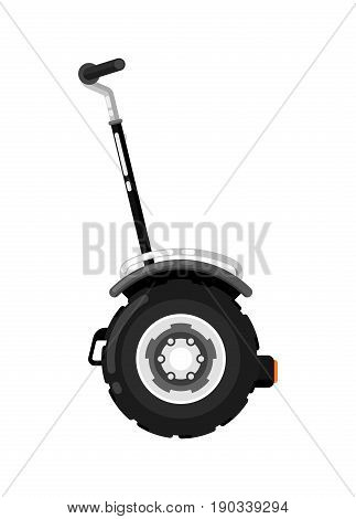 City gyroscooter isolated icon in flat design. Modern auto vehicle, outdoor people transportation and travel activity vector illustration.