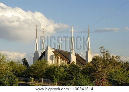 Temple of the Church of Jesus Christ of Latter-day Saints located in Las Vegas Nevada.