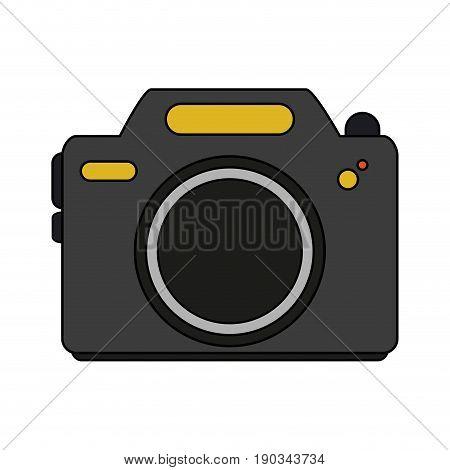 camera over white background vector illustration design