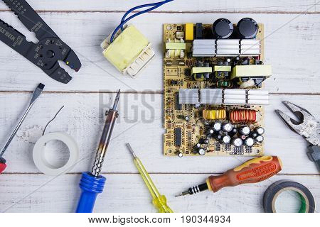 Circuit Board And Equipment Repair In The Service Workshop