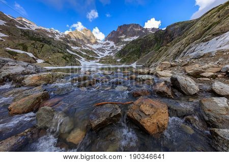 Lac Blanc in Mont Blanc Massif France