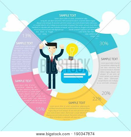 Great Idea Infographic | set of vector diagram illustration use for presentation, business, marketing and much more.The set can be used for several purposes like: websites, print templates, presentation templates, and promotional materials.