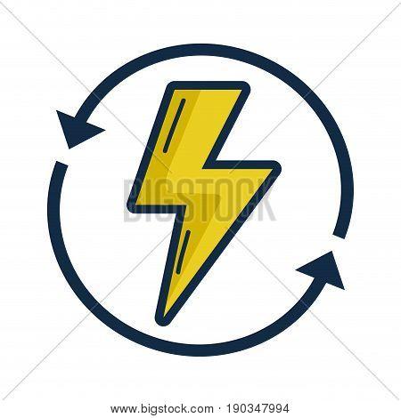 energy hazard symbol with arrows around vector illustration