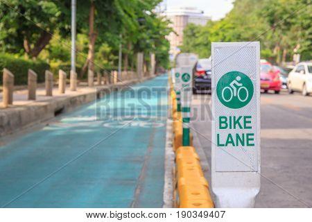 Bicycle or bike lane at street or road.