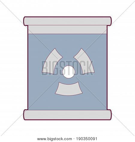 poster with radiation symbol of danger vector illustration