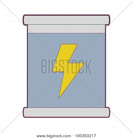 poster with energy hazard symbol vector illustration