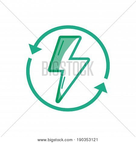 silhouette energy hazard symbol with arrows around vector illustration