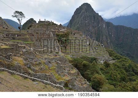 Ruins of village Machu-Picchu Peru South America
