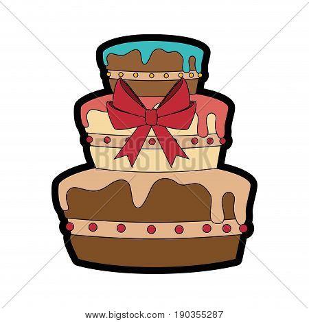 gateau cake sweet vector illustration graphic design icon