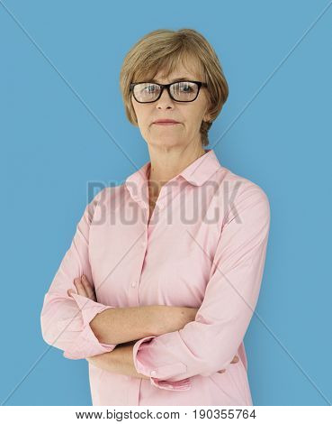 Senior Adult Woman Confidence Self Esteem Studio Portrait