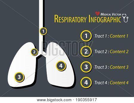 Respiratory Infographic . Flat design . vector
