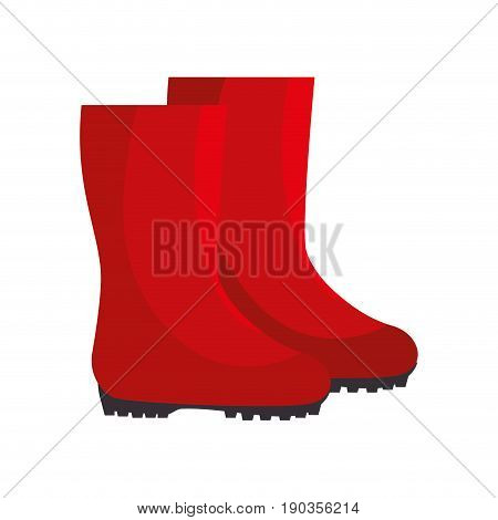 garden boots animated vector illustration graphic design icon