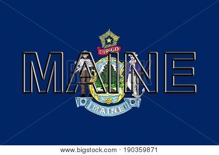 Flag Of Maine  Word